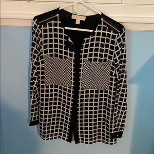 Michael Kors blouse black and white